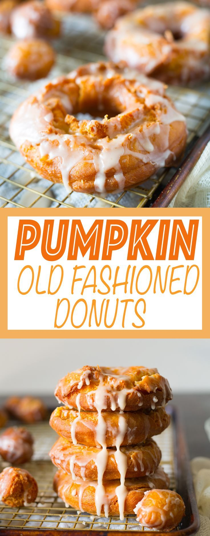 Classic old fashioned donuts with a pumpkin spin to it! Old fashioned donut recipe with pumpkin puree and pumpkin pie spices!