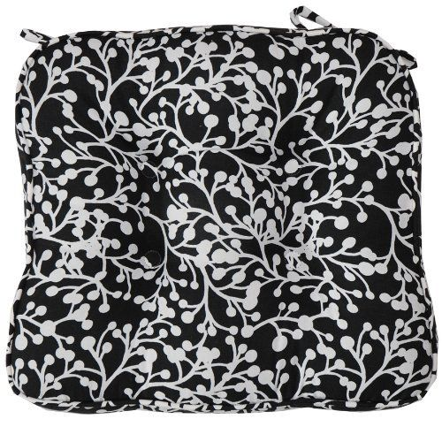 Black Vine Tie Back Chair Cushion Pad By Sweet Pea Linens. $16.00. Complete