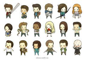 Teen Wolf Chibi Set by laalaachii