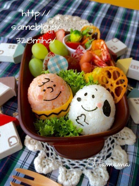 スヌーピーとチャーリーブラウンのお弁当♡の画像   ゚*.。.*゚Haママ手作りDiary*.。.*゚*.