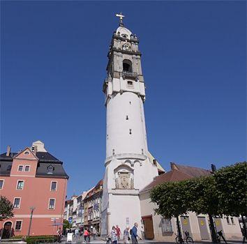 Reichenturm, der schiefe Turm von Bautzen bietet einen freundlichen Türmer und einen herrlichen Ausblick