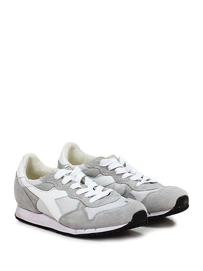 DIADORA Heritage - Sneakers - Donna - Sneaker in camoscio e tessuto tecnico con suola in gomma. Tacco 25, platform 15 con battuta 10. - WHITE\ICE - € 165.00