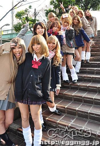 Kogal gyaru schoolgirls