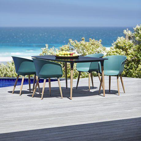 Bord UBJERG 180cm+4 stolar VARMING grön | JYSK
