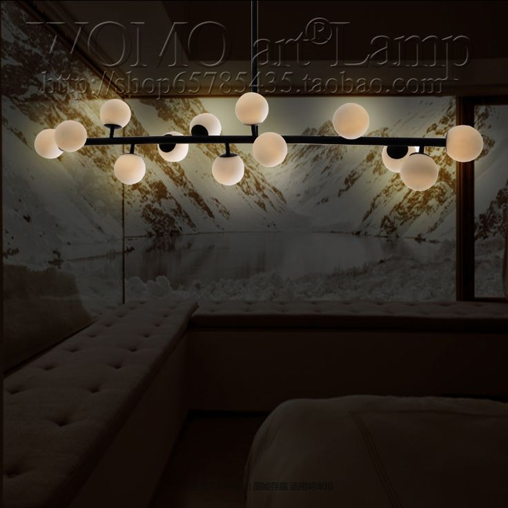Nordic IKEA new creative cream parlor restaurant office studio glass peach tree branch chandelier H