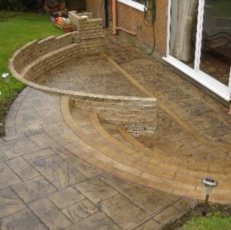 Patio Designs concrete | ... Concrete Patios « Pattern Imprinted Concrete Driveways by CD Designs