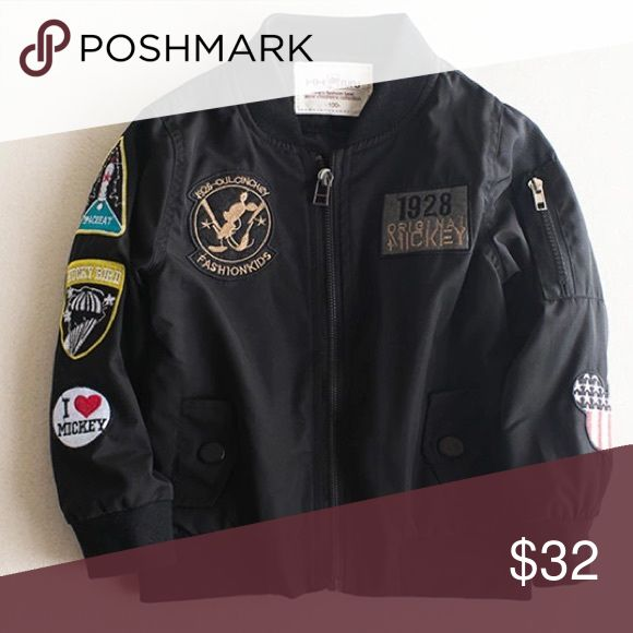 Boys Bomber Jacket Brand new bomber jacket with patches. This item is in transit 📦 You can purchase now, shipping will be delayed! No trades! Also available in green Jackets & Coats
