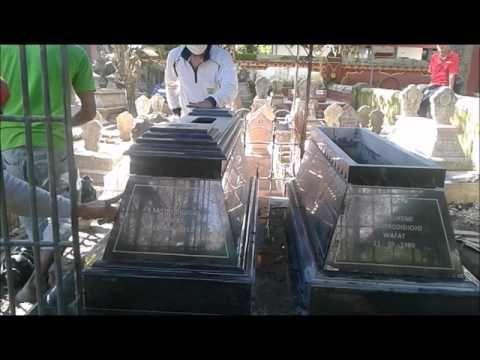 CARA PASANG KIJING GRANIT / MAKAM GRANIT & LANTAI GRANIT DI KUBURAN - YouTube