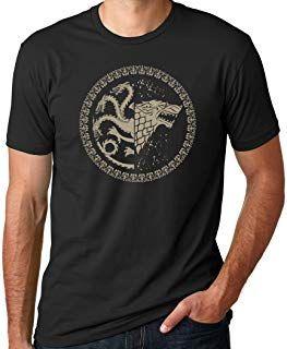 Game of Thrones Stark   Targaryen Sigil Black Shirt 338037a98e9