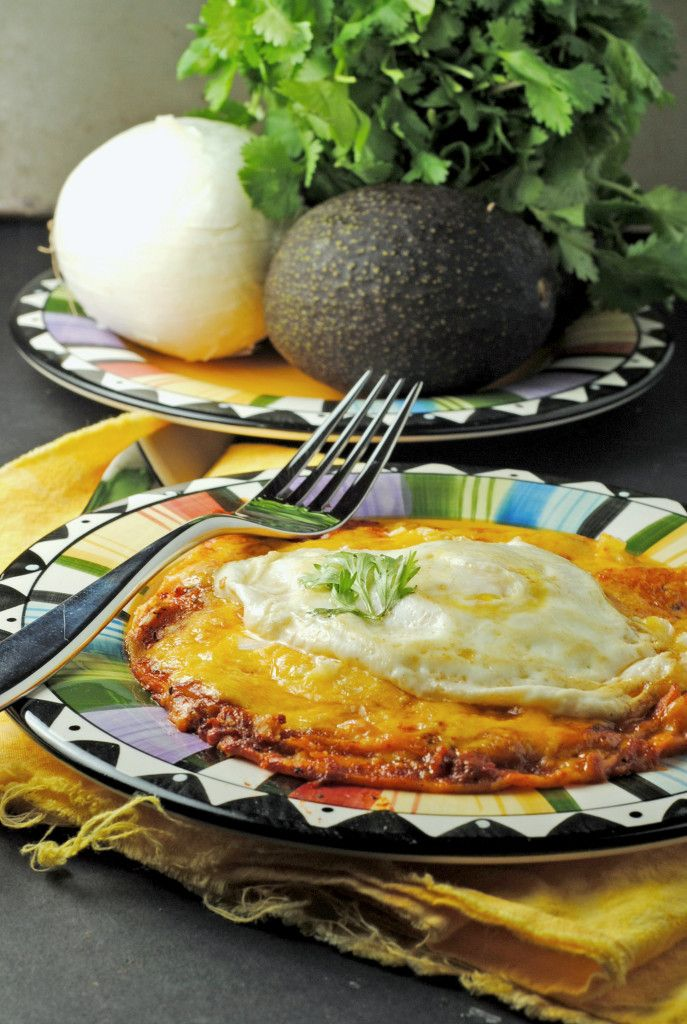 Stacked Enchiladas  - Note from Kalamity Kelli:  These enchiladas are made CORRECTLY and authentically!  My dad was born and raised in New Mexico and he said (and made) this was the only way to make 'em!