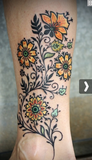 I go between wanting something like this vs something more flowy and watercolor-like  lovehawk.com