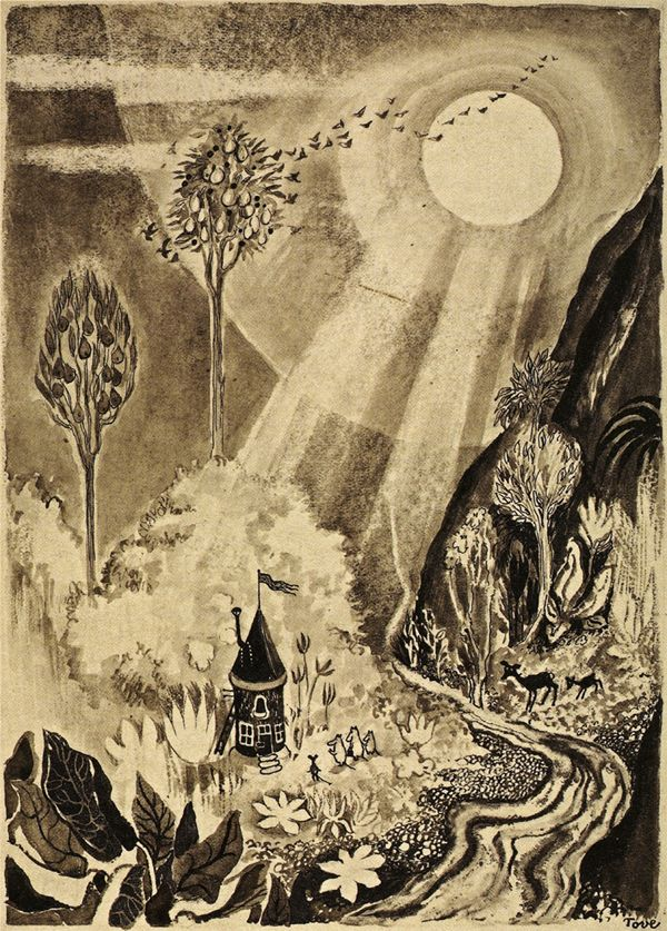 The #Moomins illustration by #Tove Jansson