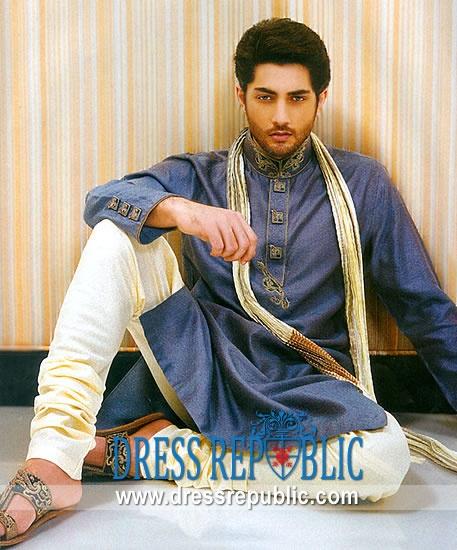 Style DRM1528, Product code: DRM1528, by www.dressrepublic.com - Keywords: Mens Shalwar Kameez for EID, Ramadan 2012, Mens Kurta Shalwar, Kurta Salwar for EID