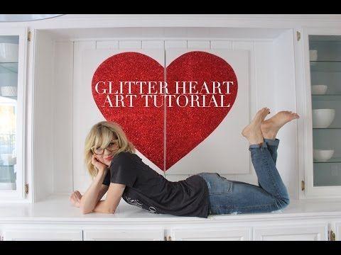 ▶ Glitter Heart Art Tutorial - YouTube