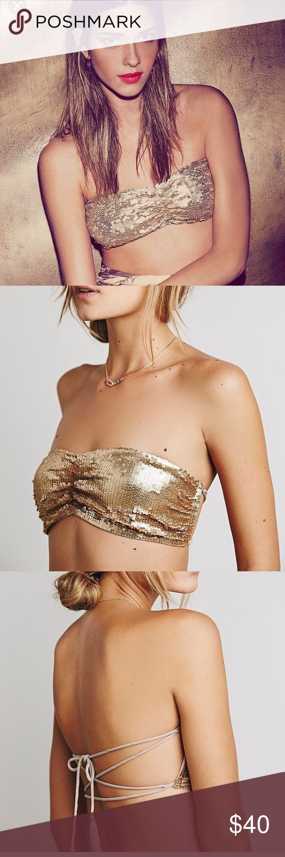 Free people sequin bandeau top new boho chic Great sequin festival top by free people new sold out in stores ............🎉🎉🎉🎉Tags:  tigermist tiger mist urban outfitters free people anthropologie  asos missguided nasty gal hello molly selfie leslie xenia boutique boohoo Windsor 🌸🌸 Free People Tops
