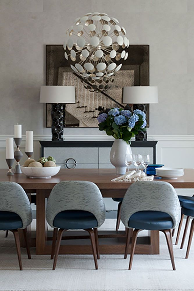 Here for you 24 elegant dining room sets that can add glam into your home. ★ See more: http://glaminati.com/elegant-dining-room-sets-inspiration/?utm_source=Pinterest&utm_medium=Social&utm_campaign=elegant-dining-room-sets-inspiration&utm_content=photo13