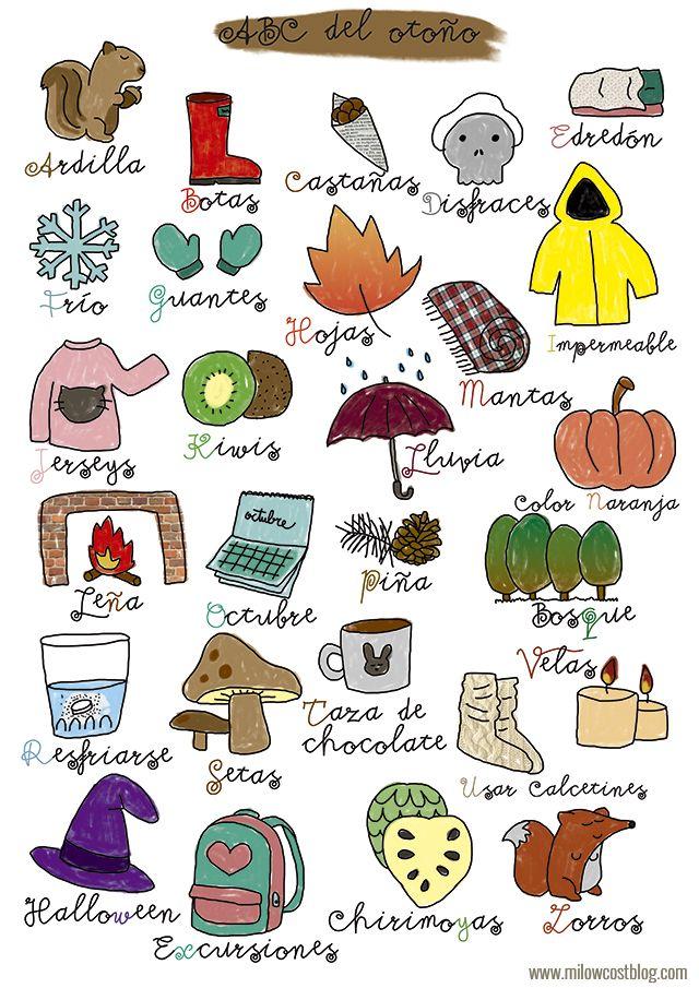 Poster del abecedario para otoño // Autumn ABC Poster #literacy
