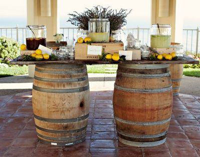 Gorgeous! Wine Barrel Table!