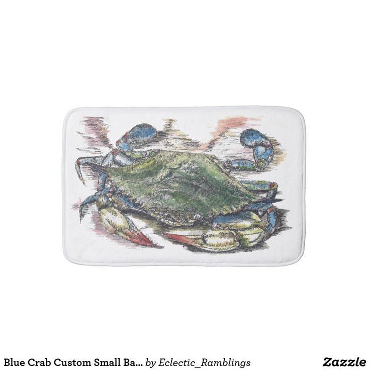 Blue Crab Custom Small Bath Mat