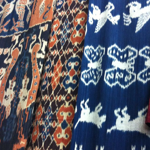 Ikat (hand woven) fabrics from Indonesia