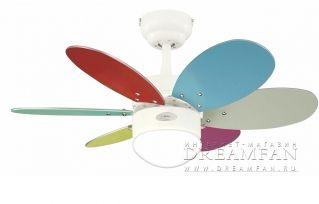 Потолочный вентилятор (люстра - вентилятор) Turbo II Multicolor Pastel - 8950