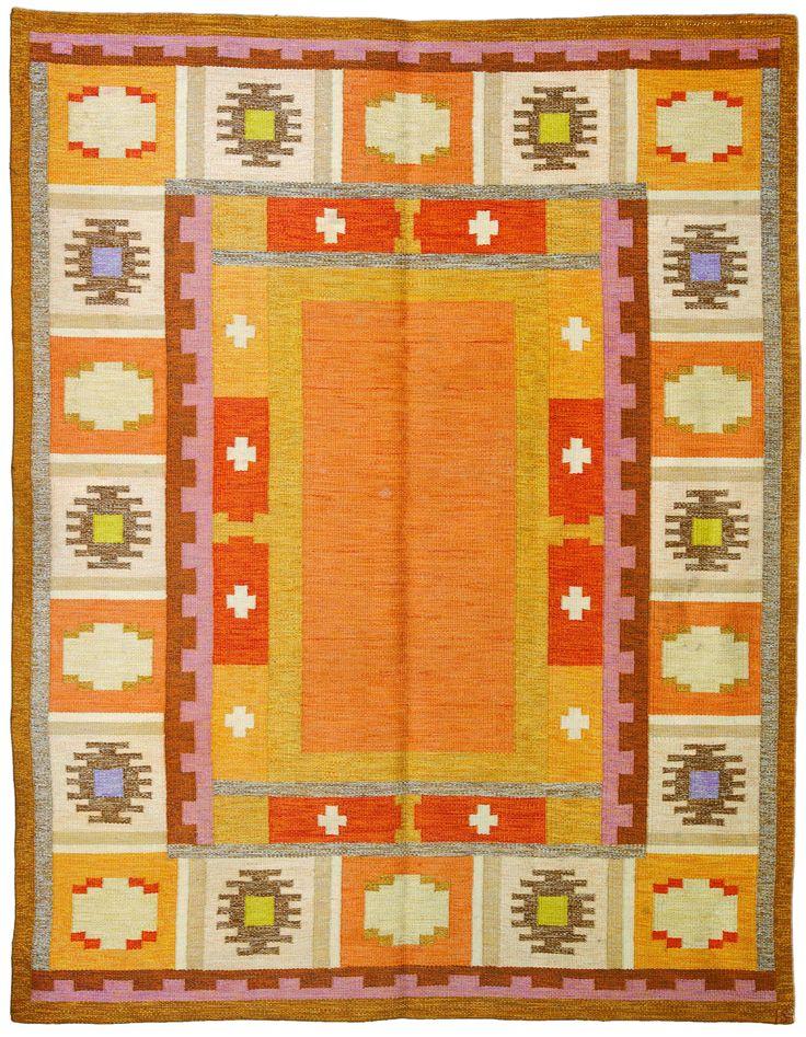 Scandinavian Carpet Scandinavian Rug Vintage Rug