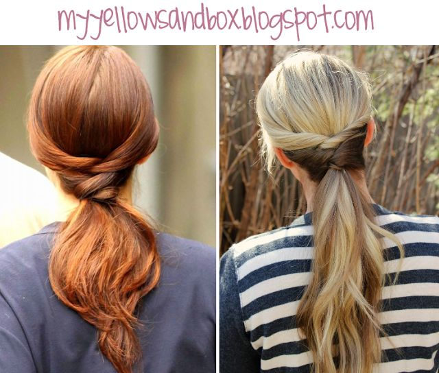Easy hairstyle and super fun spin on a boring ponytail! | Twist Me Pretty