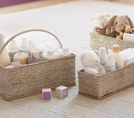 Silver Rope Changing Table Storage | Pottery Barn Kids