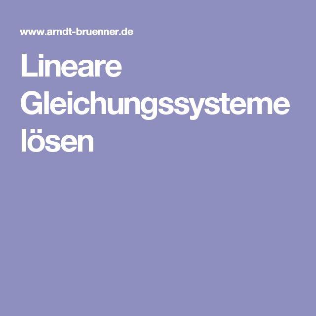 Lineare Gleichungssysteme lösen