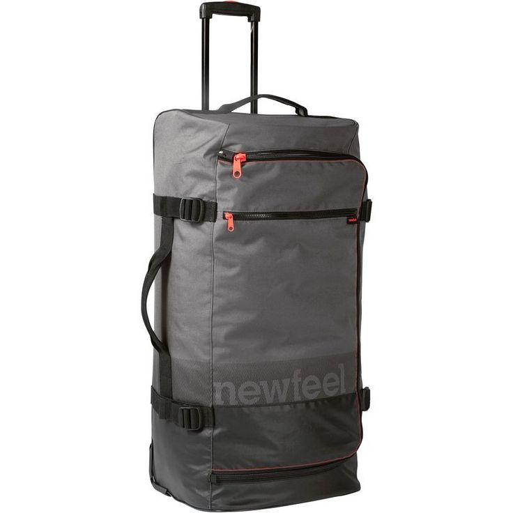 Multisport_Reisetaschen Accessoires und Ernährung - Reisetrolley Rollkoffer TR 120 90 l grau/rot NEWFEEL - Accessoires