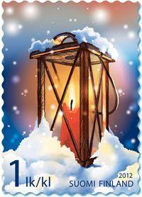 Joulupostimerkki 2012 - 2/2 Tallilyhty - Christmas stamp 2012 2/2