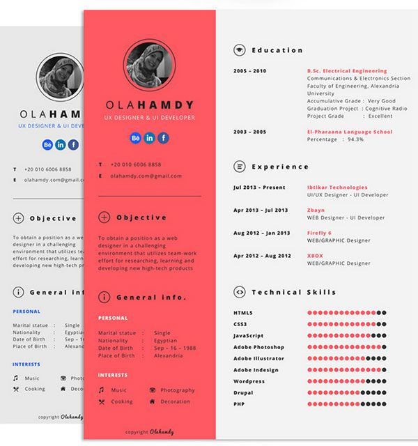 16 best Resume ideas images on Pinterest Creative curriculum - artsy resume templates