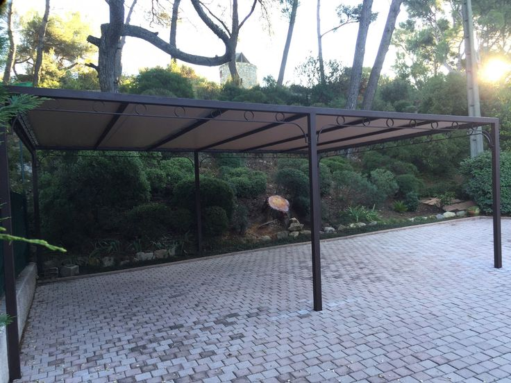 8 best abri voiture images on Pinterest Bike shelter, Sheds and - Avantage Inconvenient Maison Ossature Metallique