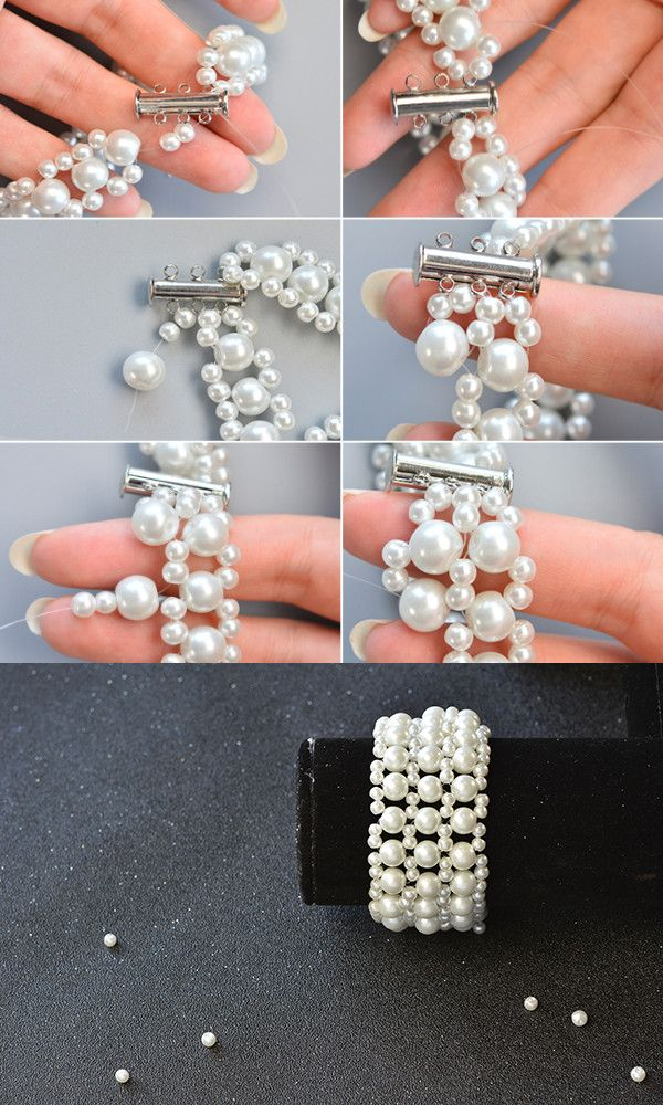 Like the white pearl beads bracelet?The more making details will be released by LC.Pandahall.com