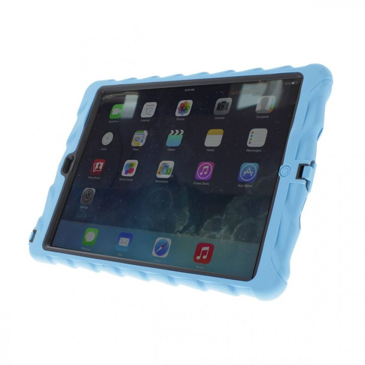 Gumdrop iPad Air - Hideaway Case with Integrated Stand - Blue-Black | If you're looking for the most rugged, durable yet ultimately affordable protection for the iPad, you've found it! #gumdrop #ipadair #kids #hideaway