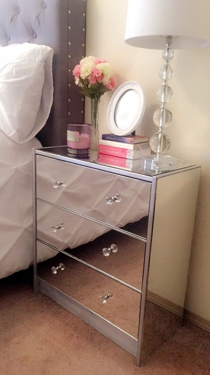 best 20 mirrored nightstand ideas on pinterest mirror furniture diy mirror nightstand i made