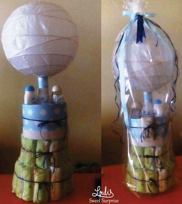 Diaper balloon cake #Loulis_Sweet_Surprise