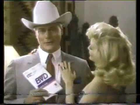Larry Hagman 1985 BVD Underwear Commercial