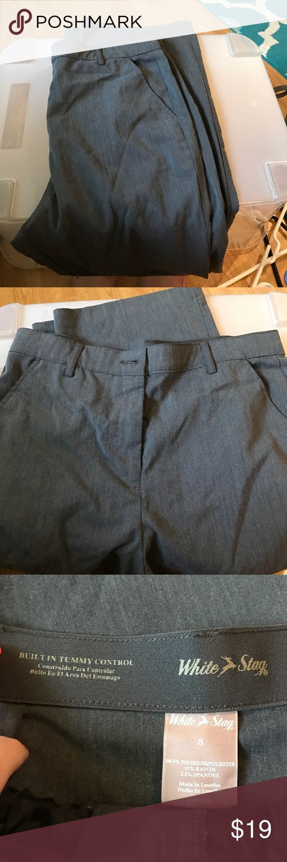 White stag size 8 gray pants. White stag gray pants, size 8, built in tummy control and comfort stretch. White Stag Pants
