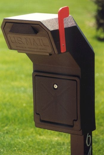 Inspirational Rear Entry Locking Mailbox