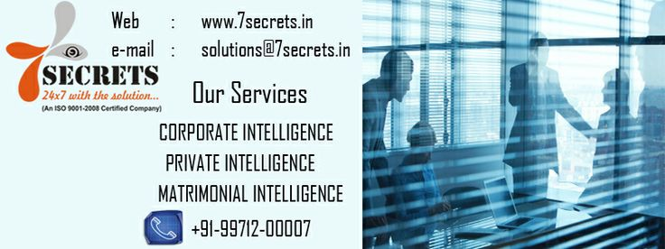 Corporate Detective Service is available for your help. http://www.7secrets.in/Corporate.php