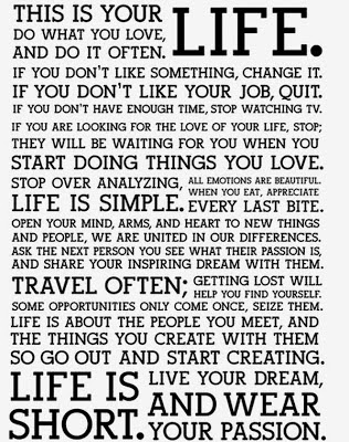 Wow even though these are somebody's New Year's Resolutions, it's like a personal pep talk about my life! Lol. Love it!!