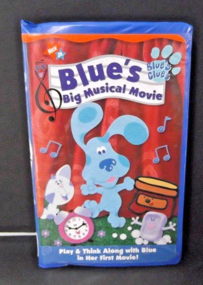 Blue S Clues Big Musical Movie Vhs Play Think Along With Blue Tested Works Musical Movies Blues Clues Musicals