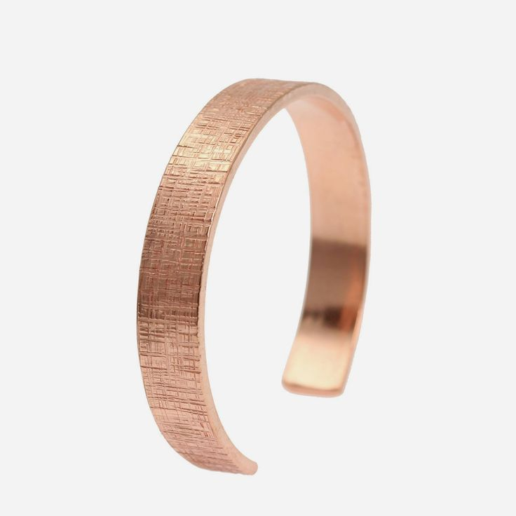 NEW! Striking 1/2 Inch Wide Linen Copper Cuff Bracelet  https://www.johnsbrana.com/products/10mm-wide-linen-copper-cuff-bracelet-solid-copper-cuff #7YearAnniversary #JohnSBrana