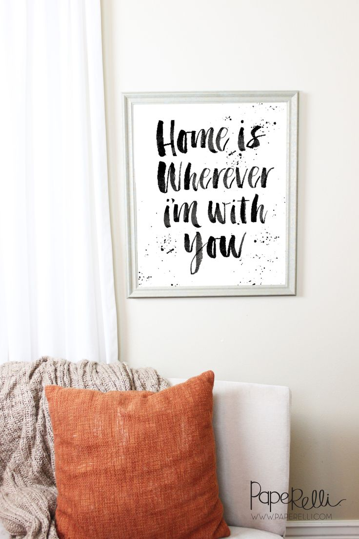 "Hello friends! I thought it might be a little fun to design this Home is  Wherever I am With You Print for my own blog. I wanted to design this print  for my own home and I thought I would share it with all of you too! For  FREE. I designed this print in black and white for easy printing, plus I  LOVE simple, clean decor. It is designed as a 16x20"" Print, perfect for  that oh so popular and affordable ""engineer print"". Enjoy!  DOWNLOAD THIS PRINT HERE"
