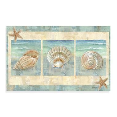 Bring images of beautiful ocean waves and shells from the sea into your kitchen with this lovely mat. This multi-purpose, anti-fatigue floor mat is slip resistant, water repellant and has a non-skid back. Indoor use only.