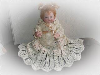 gehaakte doop jurk