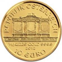 Gouden Munten Kopen kan bij Dutch Bullion. Wij hebben het grootste aanbod Gouden Munten van Nederland. Hier ziet u de Oostenrijkse Philharmoniker 1/10 troy ounce 2012 Gouden Munt. Voor een overzicht van alle gouden munten die bij Dutch Bullion verkrijgbaar zijn kunt u hier klikken: https://www.dutchbullion.nl/Goud-Kopen/Gouden-munten/
