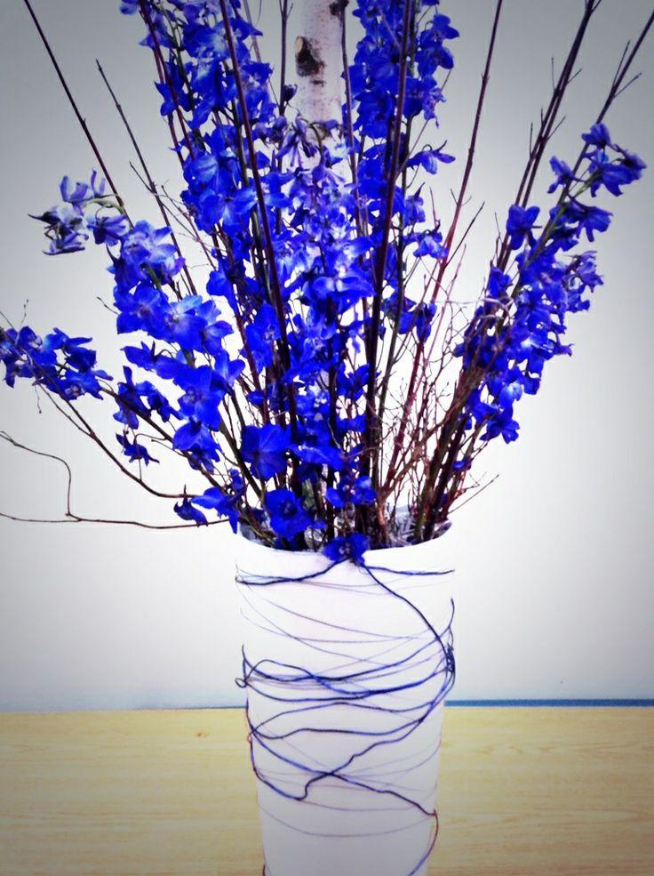 Beautifully blue delphinium.