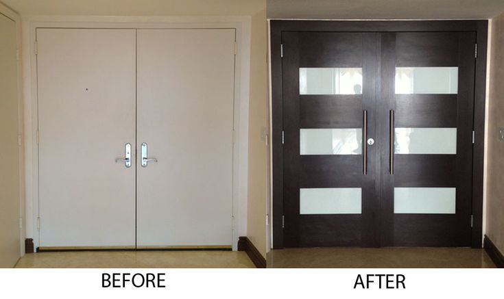 Entry door refacing before and after door pinterest for Garage door refacing